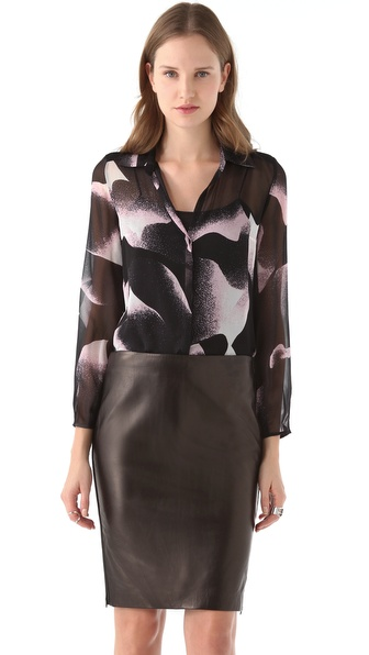 Diane von Furstenberg Gale Chiffon Blouse