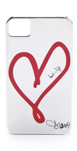 Valentine's Day Gift Guide - Diane von Furstenberg Metallic Single Heart iPhone 4 Case