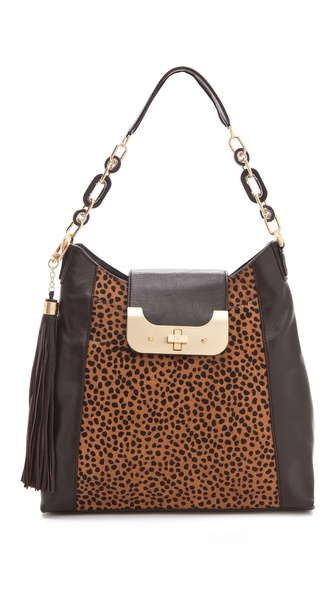 Diane von Furstenberg Harper Spotted Haircalf Hobo