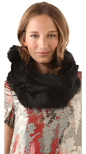 Diane von Furstenberg Rabbit Fur Snood