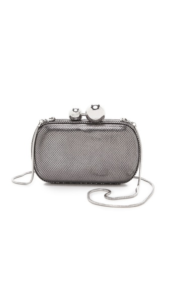 Diane von Furstenberg Sphere Metallic Tweed Clutch