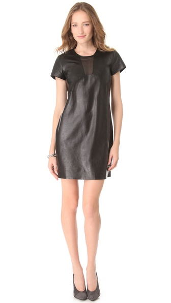 Diane von Furstenberg Medya Cutout Leather Dress