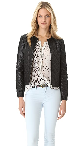 Diane von Furstenberg Delilah Quilted Leather Jacket