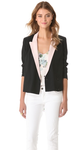 Diane von Furstenberg Pamela Soft Canvas Jacket