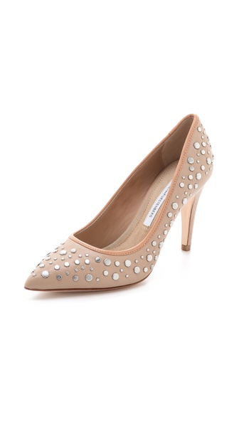 Diane von Furstenberg Alina Studded Pumps