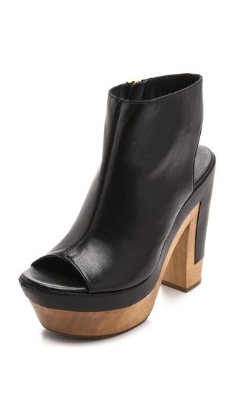 Diane von Furstenberg Rhoda Open Back Booties