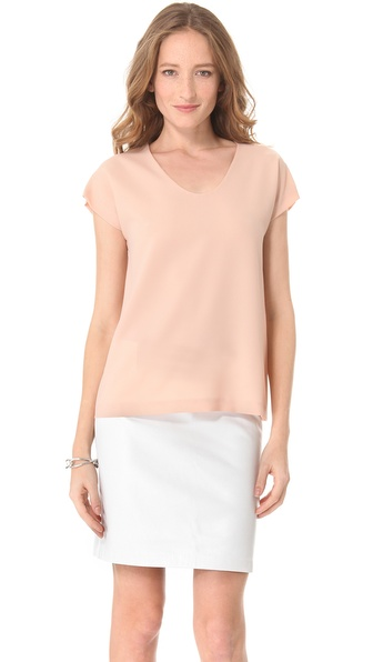 Diane von Furstenberg Acedia Crepe Tee