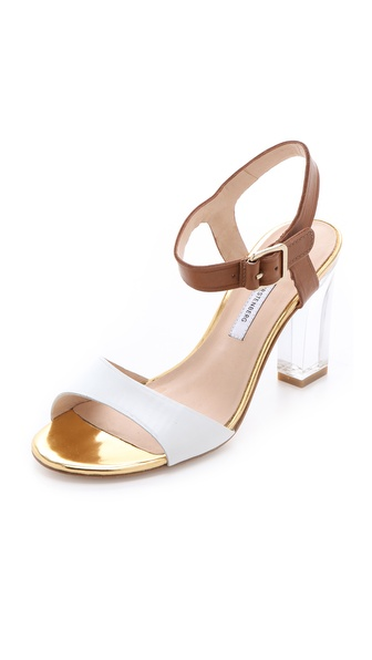 Diane von Furstenberg Patmos Sandals with Lucite Heel