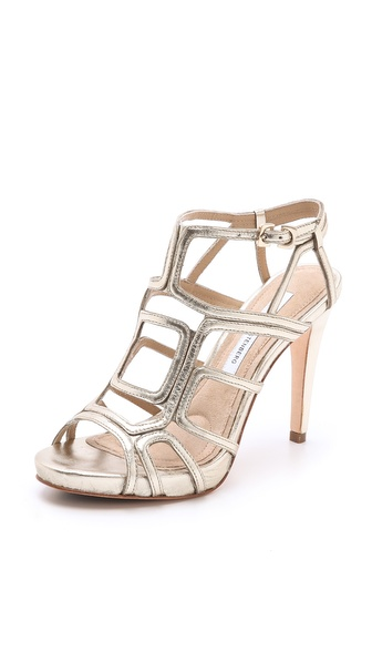 Diane von Furstenberg Jeanette Cutout Sandals