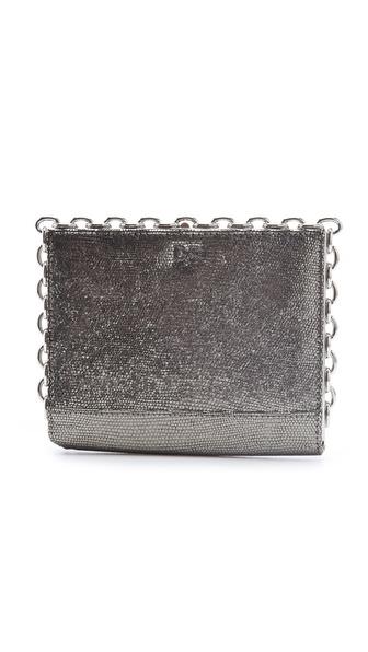 Diane von Furstenberg Catena Metallic Clutch