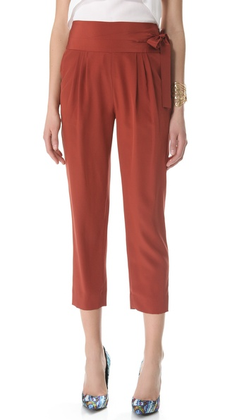 Diane von Furstenberg Keaka Side Tie Pants