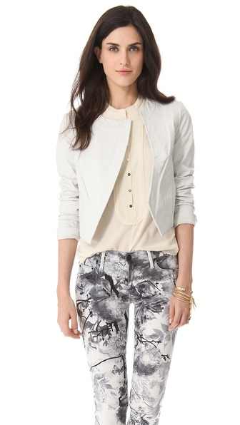 Diane von Furstenberg Sardinia Leather Jacket