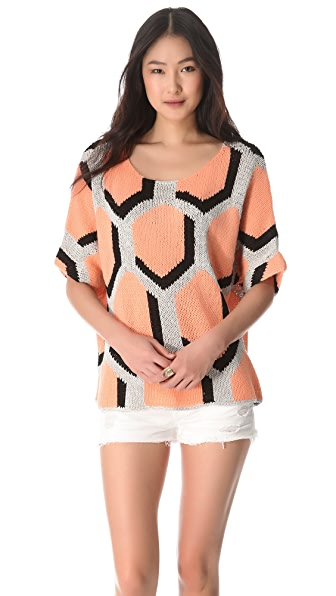 Diane von Furstenberg Cici Hexagon Sweater