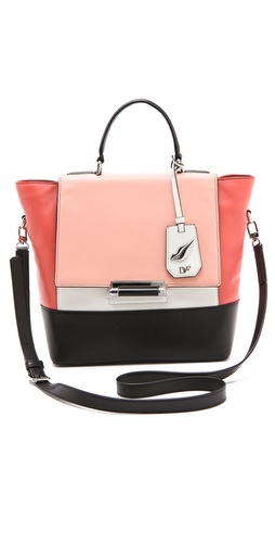 Shop Diane von Furstenberg 440 Small Colorblock Bag and Diane von Furstenberg online - Accessories,Womens,Handbags,Satchel, online Store