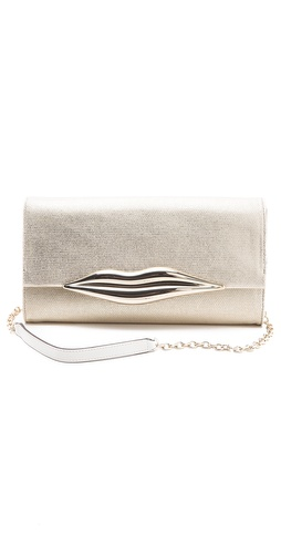 Shop Diane von Furstenberg Carolina Canvas Clutch and Diane von Furstenberg online - Accessories,Womens,Handbags,Clutch, online Store