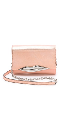 Diane von Furstenberg Lips Mini Metallic Clutch at Shopbop.com