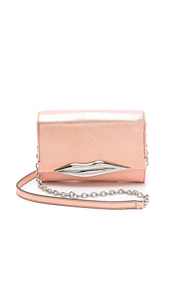 Diane von Furstenberg Lips Mini Metallic Clutch