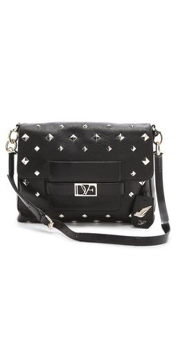 Diane von Furstenberg DVF Metro Connect Studded Bag