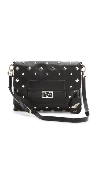 Diane von Furstenberg DVF Metro Connect Studded Bag