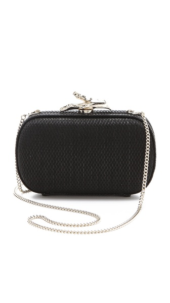 Diane von Furstenberg Lytton Raffia Minaudiere