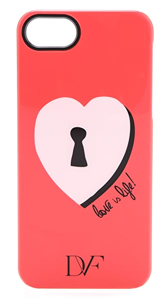 Diane von Furstenberg Lock Heart iPhone 5 Case