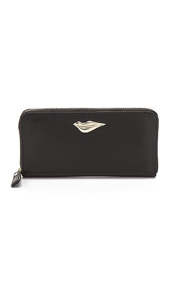 Diane von Furstenberg Lips Zip Around Continental Wallet