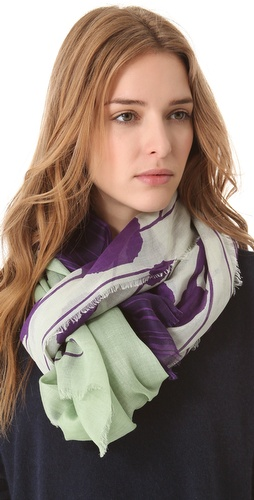Shop Diane von Furstenberg Hanovar Scarf and Diane von Furstenberg online - Accessories,Womens,Fashion_Accessories,Scarves, online Store