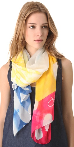 Shop Diane von Furstenberg Washed Chiffon Scarf and Diane von Furstenberg online - Accessories,Womens,Fashion_Accessories,Scarves, online Store