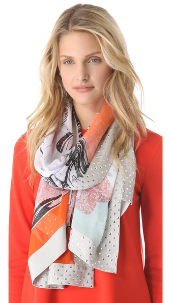 Diane von Furstenberg Spencer Embellished Scarf