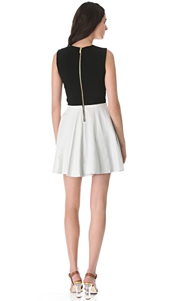 Diane von Furstenberg Jeannie Leather Combo Dress