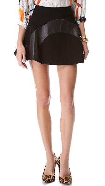 Diane von Furstenberg Tristana Leather Skirt