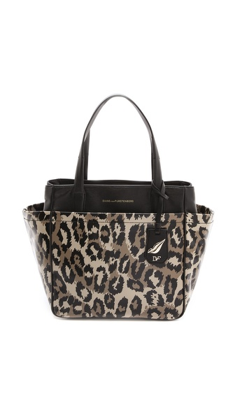Diane von Furstenberg On the Go Leopard Print Tote