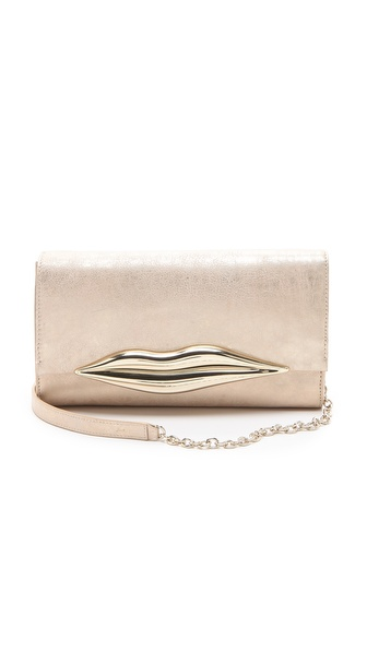 Diane von Furstenberg Flirty Leather Clutch
