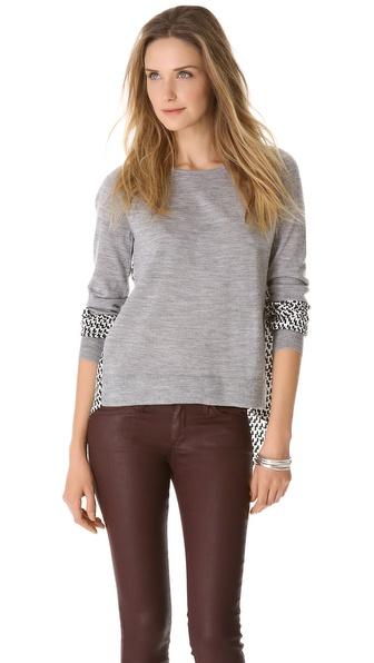 Diane von Furstenberg Austine Silk Back Sweater