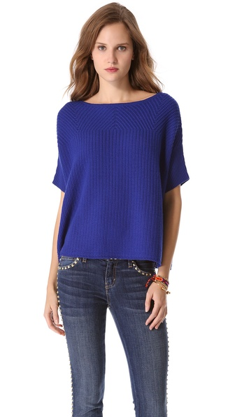 Diane von Furstenberg Finley Open Weave Sweater