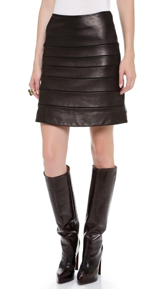 Diane von Furstenberg Beverly Leather Skirt