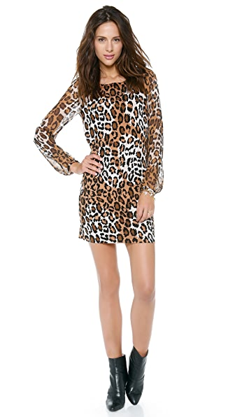 Diane von Furstenberg Alagna Leopard Print Sweater Dress
