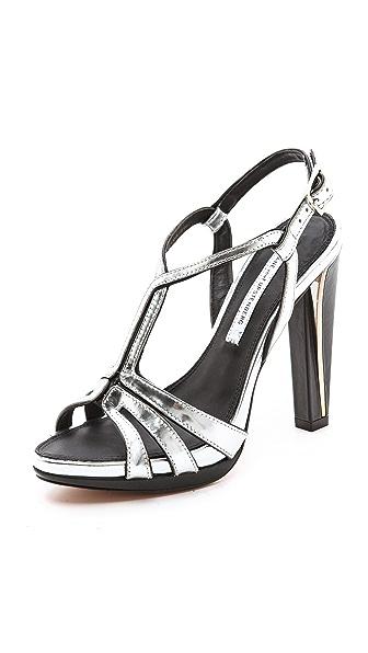 Diane von Furstenberg Devon Metallic Sandals