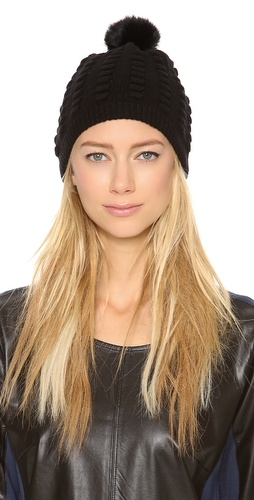 Diane von Furstenberg Dena Popcorn Fur Hat at Shopbop / East Dane
