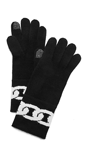 Diane von Furstenberg Dollie Chain Link Gloves