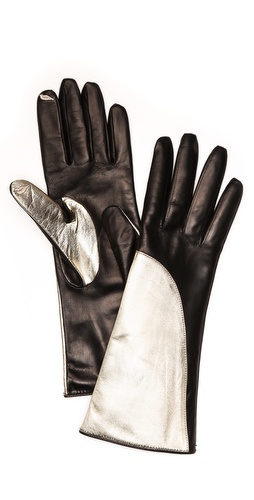 Diane von Furstenberg Asymmetrical Colorblock Gloves at Shopbop / East Dane