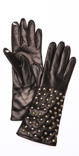Diane von Furstenberg Studded Gloves at Shopbop / East Dane