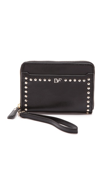 Diane von Furstenberg Studded iPhone 5 Leather Wristlet