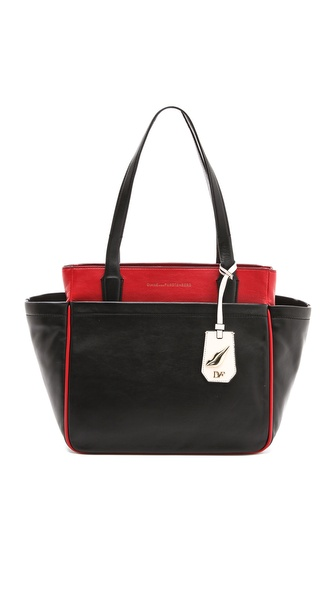 Diane von Furstenberg On the Go Leather Tote