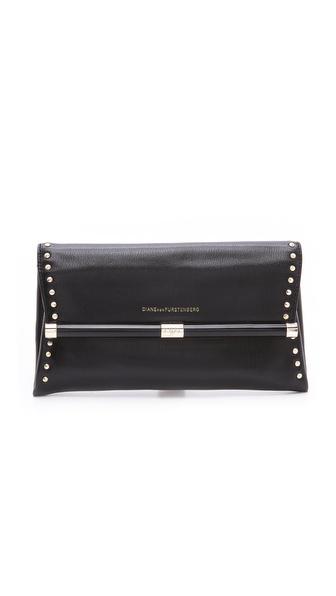 Diane von Furstenberg Envelope Studded Clutch