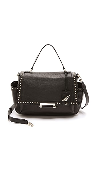 Diane von Furstenberg Highline Studded Courier Bag