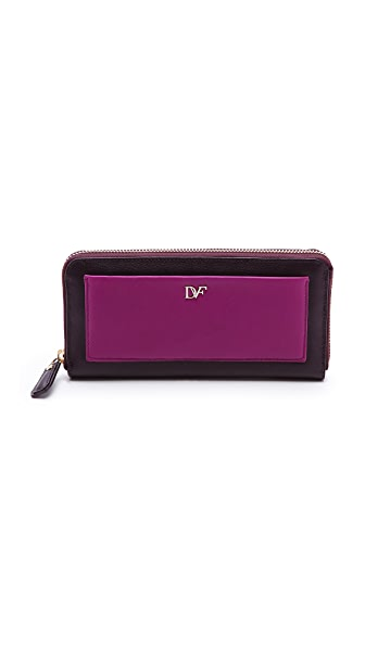 Diane von Furstenberg Voyage Zip Around Wallet