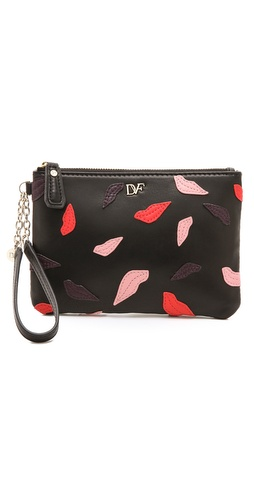 Diane von Furstenberg Lips Applique Wristlet at Shopbop / East Dane
