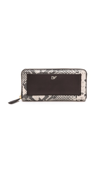 Diane von Furstenberg Lips Zip Around Wallet