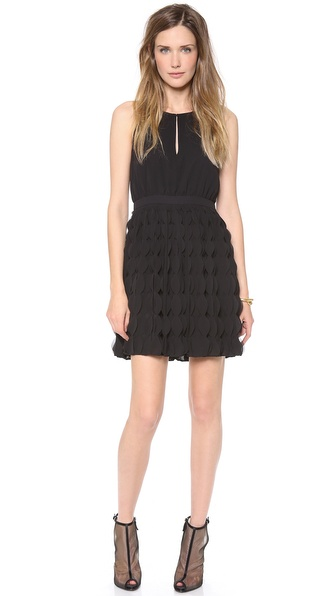 Diane Von Furstenberg Gia Ruffle Dress - Black